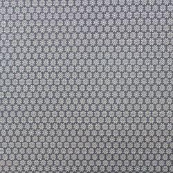 Světle šedý jednolícní úplet s bílými drobnými kvítky