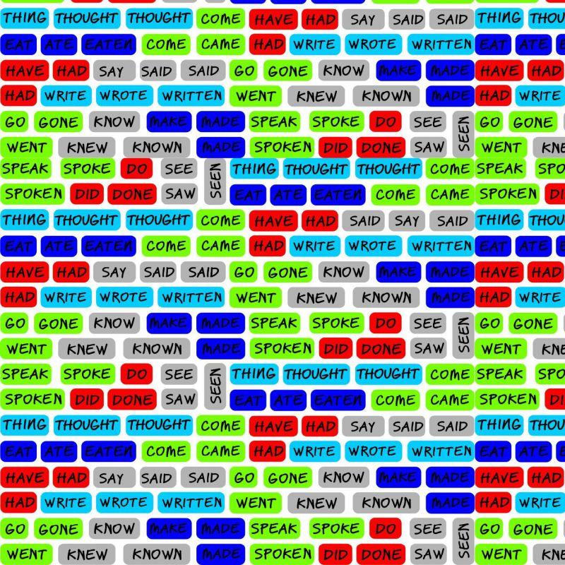 Angličtina BÍLÁ verze - digitální tisk mavaga design