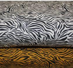 Jednolícní úplet tigr hořčice-digitální tisk EU-úplety atest pro děti