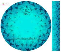Panel na kolovou sukni 2- ptáčci modrá- VARIANTY