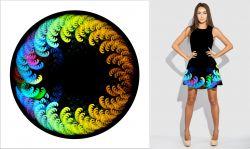 Panel na kolovou sukni 4 - barevné šmouhy-varianty