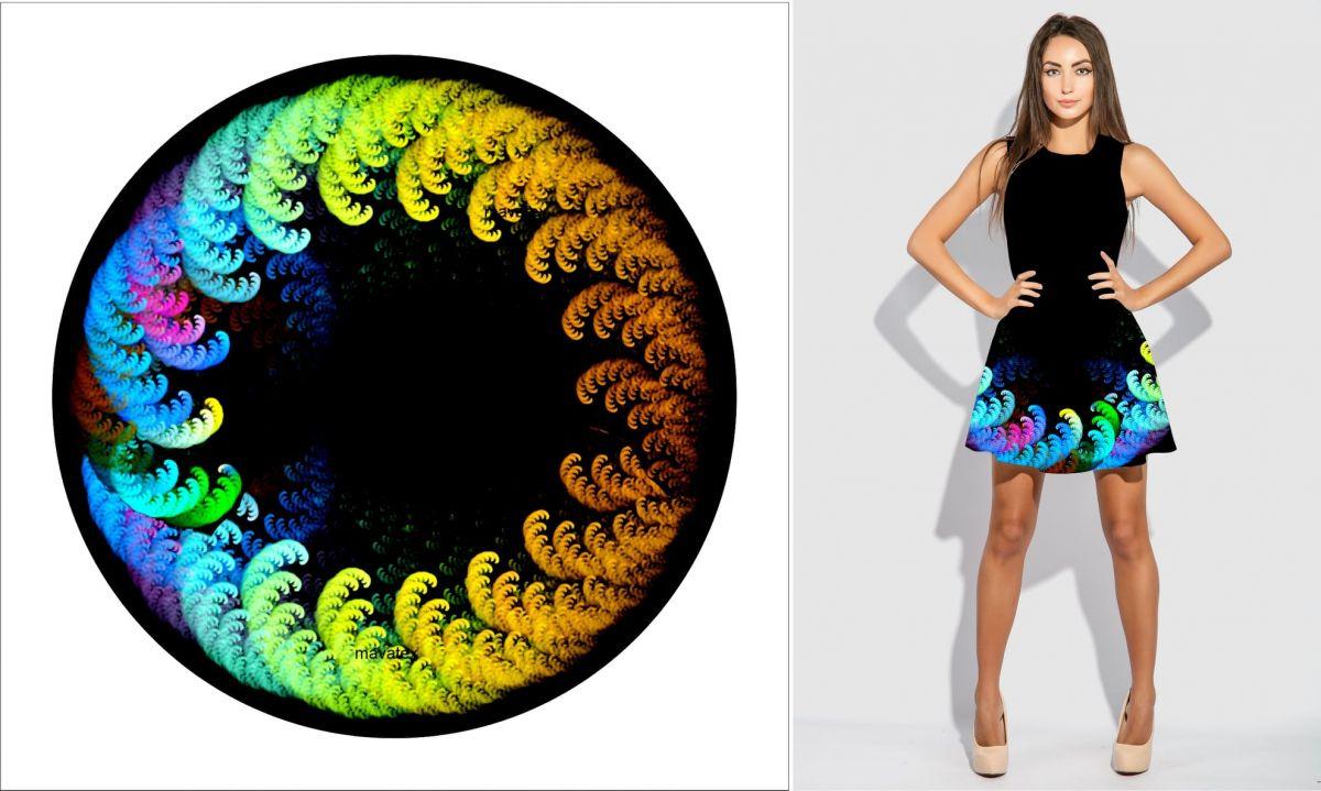 Panel na kolovou sukni 4 - barevné šmouhy mavaga design