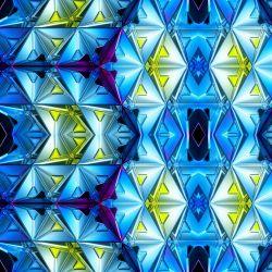Modré fraktály - digitální tisk mavaga design
