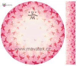 Panel na kolovou sukni 1- ptáčci růžový mavaga design