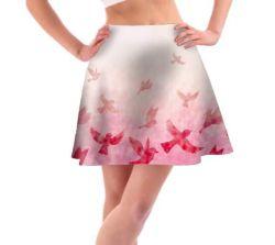 Panel na kolovou sukni 1- ptáčci růžový