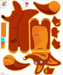 Pyžamožrout - liška -SOFT vyrobeno v EU- atest pro děti bavlna