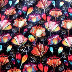SATÉN barevné astécké květy