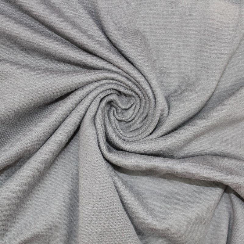 Rib 1x1 šedá- steel - barva 81 vyrobeno v EU- atest pro děti bavlna