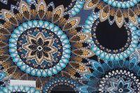 Viskóza jednolícní úplet modré mandaly vyrobeno v EU
