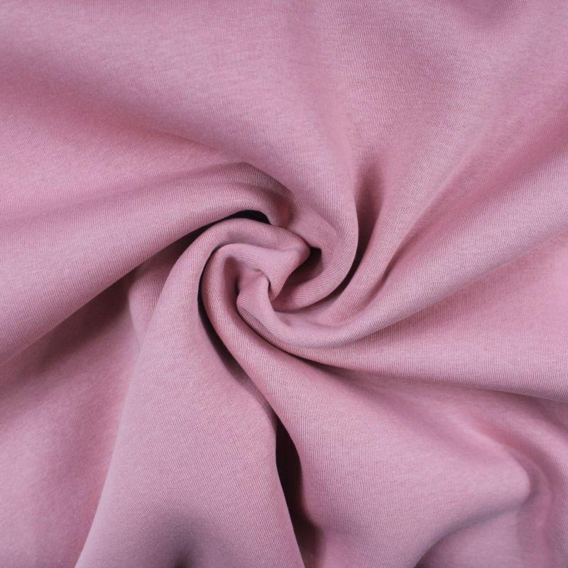 Teplákovina růžová počesaná - 310 gsm vyrobeno v Turecku