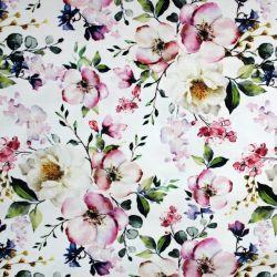 Bílá bavlna - třešňové květy