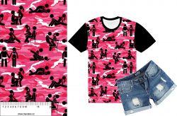 Kamasutra kamufláž růžová- digitální tisk mavaga design