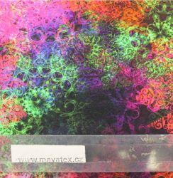 Jednolícní úplet vintage mandaly do růžova- 220 gsm EU-úplety atest pro děti
