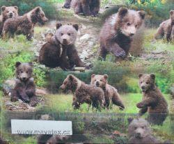Jednolícní úplet medvíďata EU-úplety atest pro děti