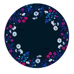 Panel na kolovou sukni 7 - květy na modré-varianty