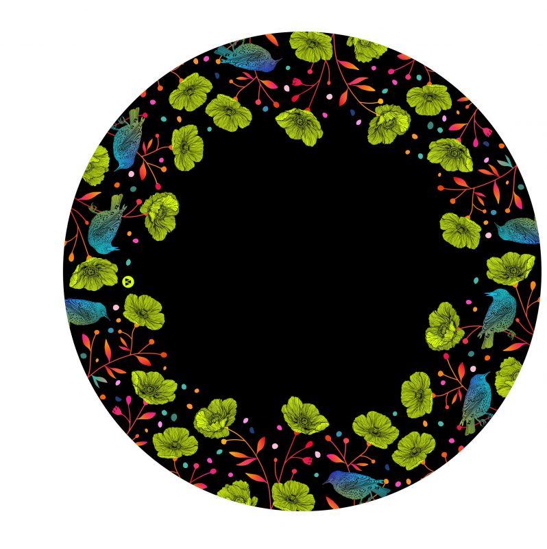 Panel na kolovou sukni 8 - květy na černé-varianty mavaga design