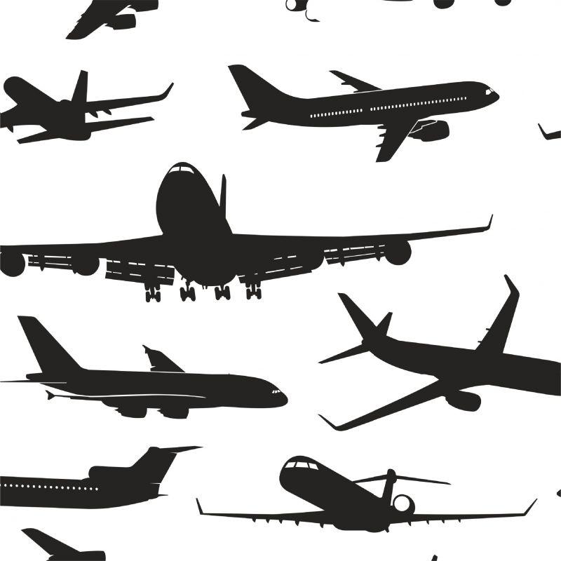 Letadla na bílé -sublimační digitální tisk mavaga design