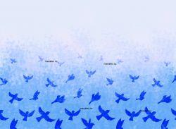 PANEL NA LEGINY /TRIKO – ptáčkové modrá- varianty | GARZATO 200gsm- funkční úplet počesaný, LYCRA 200, TORINO 140 gsm -funkční úplet