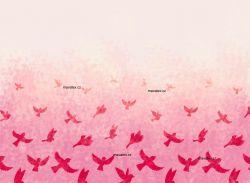 PANEL NA LEGINY /TRIKO – ptáčkové růžová- varianty | GARZATO 200gsm- funkční úplet počesaný, LYCRA 200, TORINO 140 gsm -funkční úplet