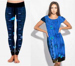 PANEL na šaty / triko/leginy –motýlek modrý- varianty mavaga design