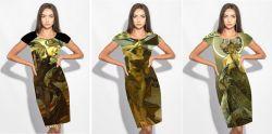 PANEL na šaty / triko –MUCHA 10+11+12- varianty mavaga design