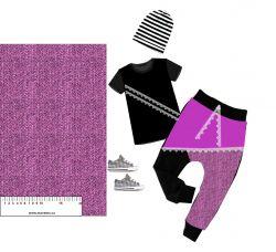 Rybí kost růžová- digitální tisk mavaga design