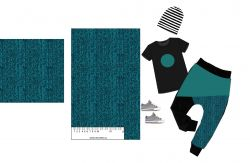 Rybí kost modrá- digitální tisk mavaga design