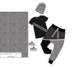 Rybí kost šedá- digitální tisk mavaga design