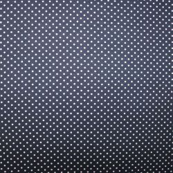 Viskóza jednolícní úplet malé puntíky na modré