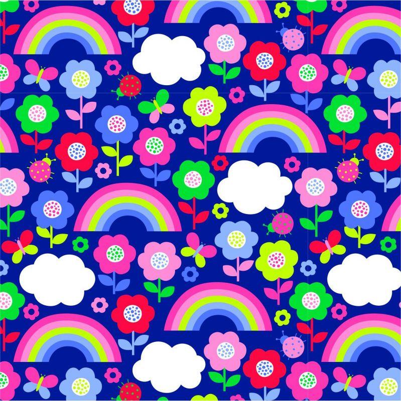 Barevné malovankové květyy-sublimační digitální tisk mavaga design
