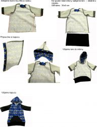 Panel oblečení na panenku vel 43 -panel 12 garzato vyrobeno v EU- atest pro děti bavlna