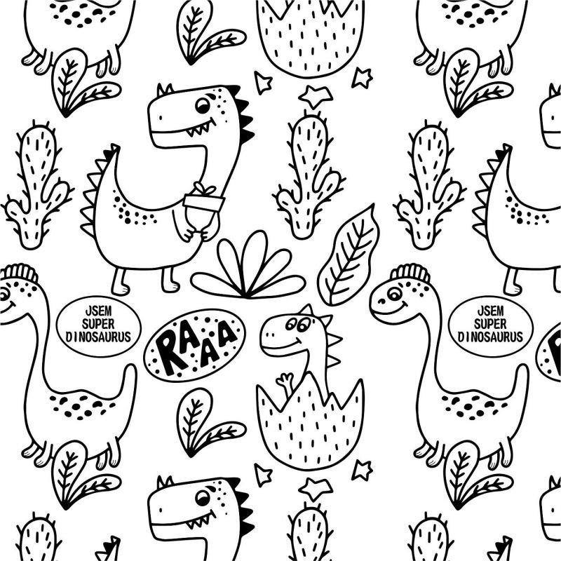 Dino omalovánka-sublimační digitální tisk mavaga design