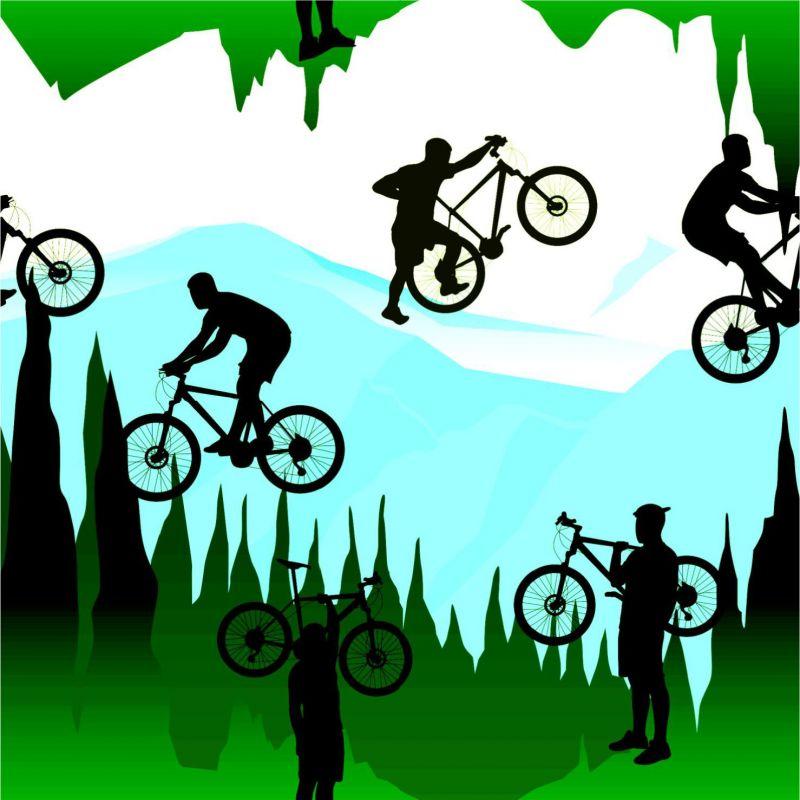 Cyklista na horách 2-sublimační digitální tisk mavaga design