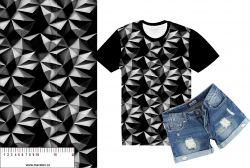 Černé 3D hroty -sublimační digitální tisk mavaga design