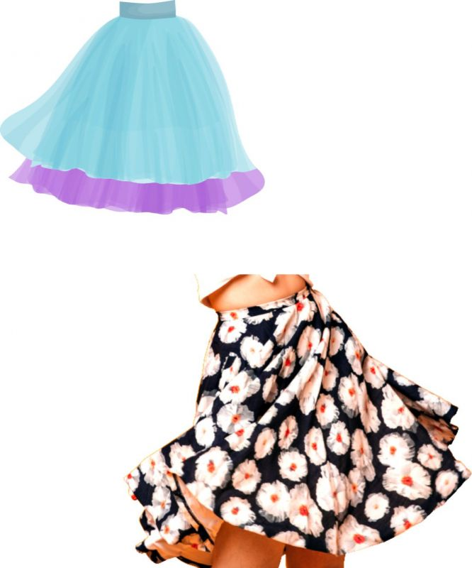 Elektronický střih - sukně kolová dětská Mavatex