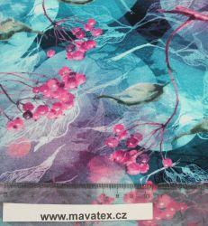 Jednolícní fialkové jeřabiny -180 gsm EU-úplety atest pro děti