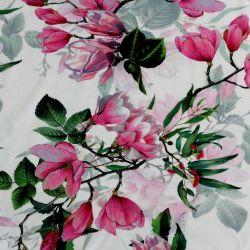 Jednolícní úplet magnolie na bílé -180 gsm