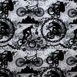 Jednolícní úplet cyklistika černá - 220 gsm