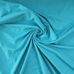 Jednolícní úplet tyrkys - elastan - barva 31-200 gsm