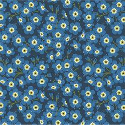 Drobné modré kvítky-sublimační digitální tisk | Funkční úplet TORINO 140 gsm, GARZATO 200gsm- funkční úplet počesaný, Kočárkovina , LYCRA 200, Micropeach, Softshell jarní 285 gsm, Softshell letní pružný 220gsm, Softshell zimní 320 gsm