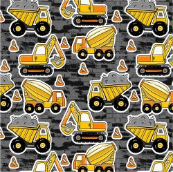 Žluté malované nakladače s pruhy-sublimační digitální tisk