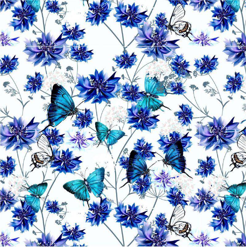 Modrý motýlkové s chrpami-sublimační digitální tisk mavaga design