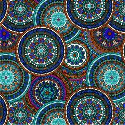 Mandaly barevné do modra-sublimační digitální tisk