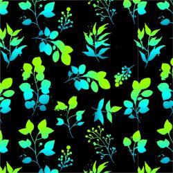 Zeleno-modré eukaliptové lístky-sublimační digitální tisk | DOLOMITY, Funkční úplet TORINO 140 gsm, GARZATO 200gsm- funkční úplet počesaný, Kočárkovina , LYCRA 200, Micropeach, Softshell jarní 285 gsm, Softshell letní pružný 220gsm, Softshell zimní 320 gsm, SILKY