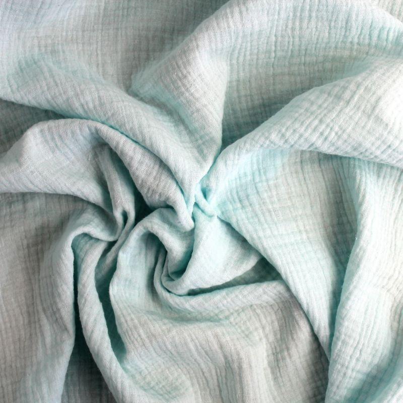 Mušelín ( fáčovina ) světle modrá vyrobeno v EU- atest pro děti bavlna