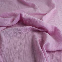 Mušelín ( fáčovina ) světle růžová vyrobeno v EU- atest pro děti bavlna