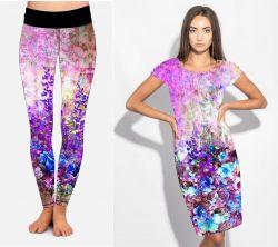 PANEL na šaty / triko/leginy –akvarelové květy mix- varianty mavaga design