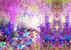 PANEL na šaty / triko/leginy –akvarelové květy mix- varianty