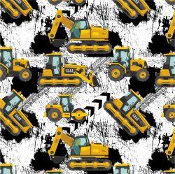 Žluté malované nakladače S PENU-sublimační digitální tisk