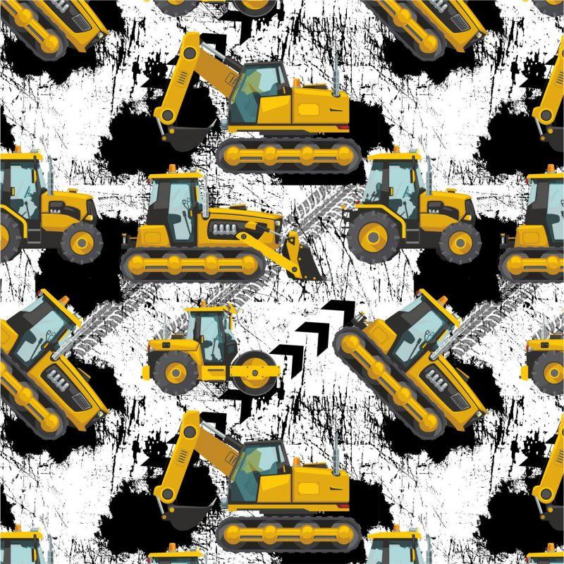Žluté malované nakladače S PENU-sublimační digitální tisk mavaga design